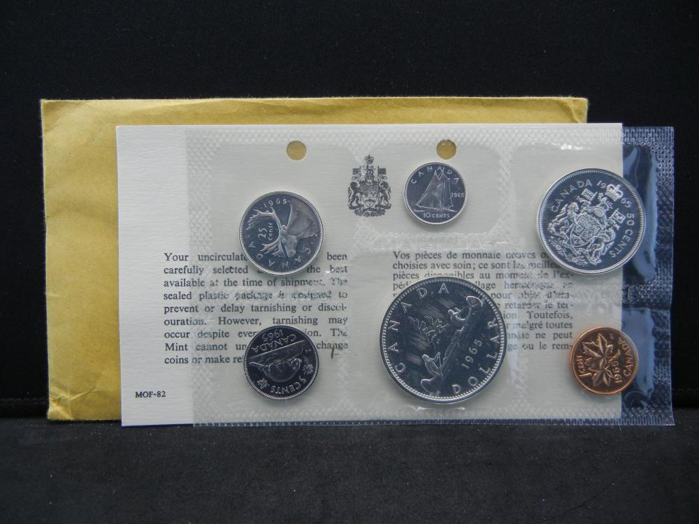 1965 Canada Proof Like Set in original mint envelope.   $1.85 face in silver.