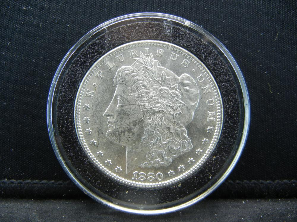1880-S Morgan Dollar.   Choice BU in Airtite.