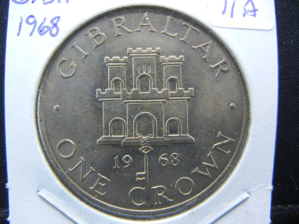 1968 Gibraltar Crown.   BU.