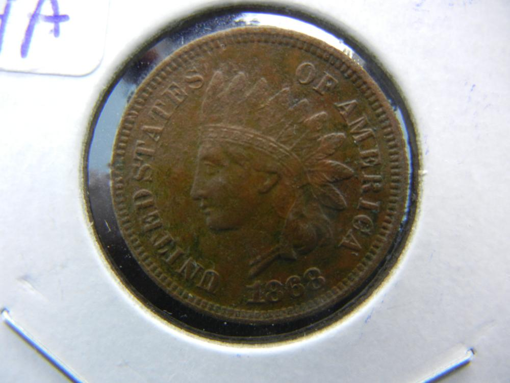 1868 Indian Head with strong Liberty but corrosion.  Almost Uncirculated  details.