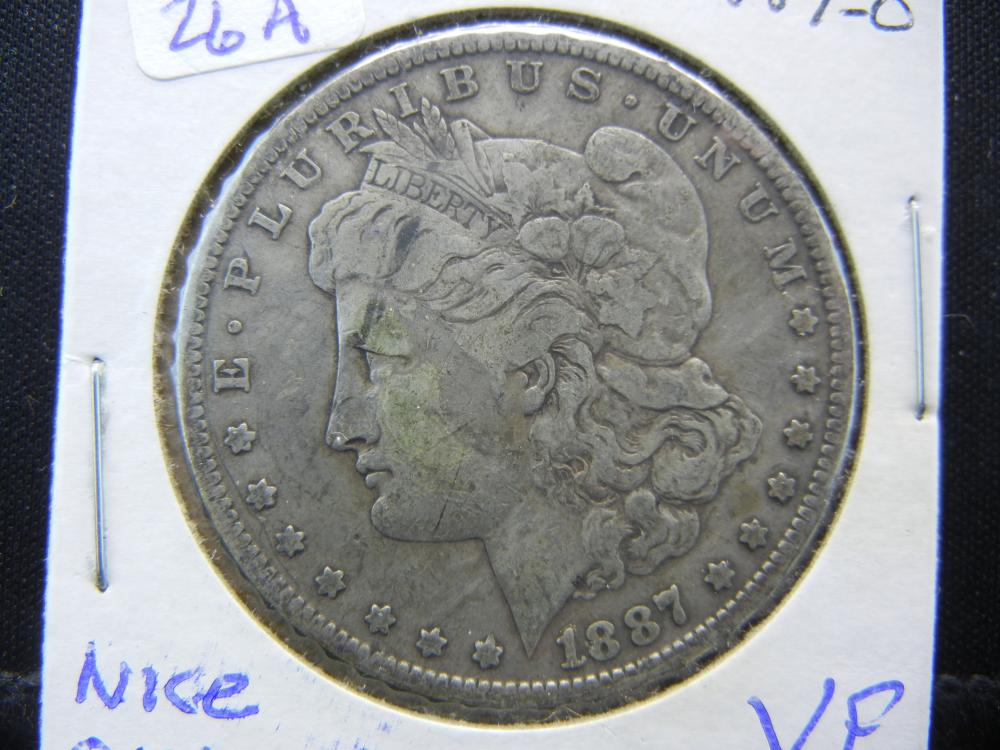 1887-O Morgan Dollar.  Nice original Very Fine.