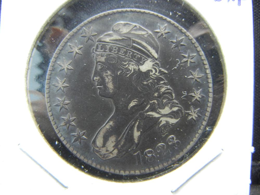 Tough Date 1823 Capped Bust Half.   Extremely Fine detail.   Toned.