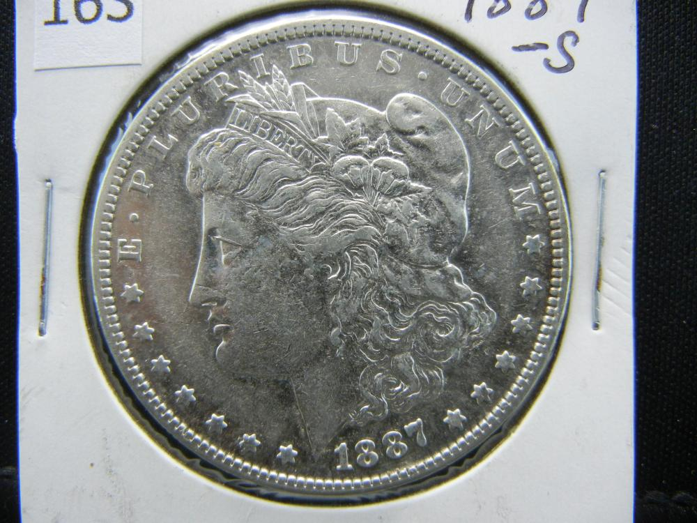 1887-S Morgan Silver Dollar
