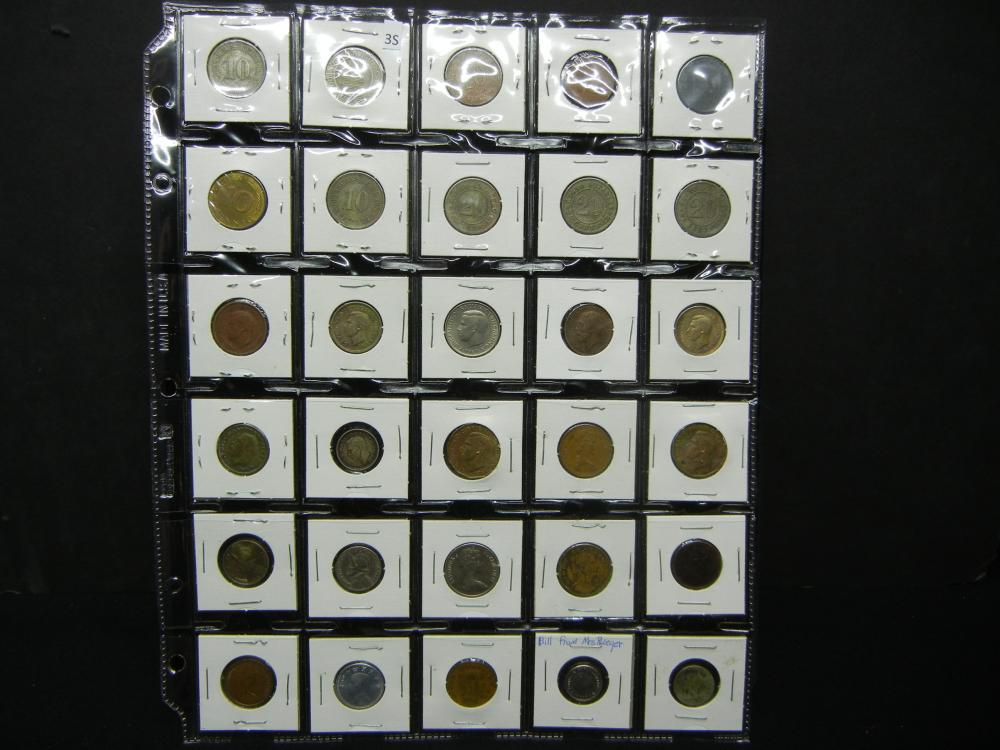 Sheet of Foreign Coins