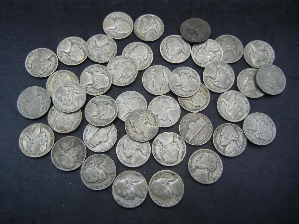 Roll of War Nickels. 40 35% Silver Coins