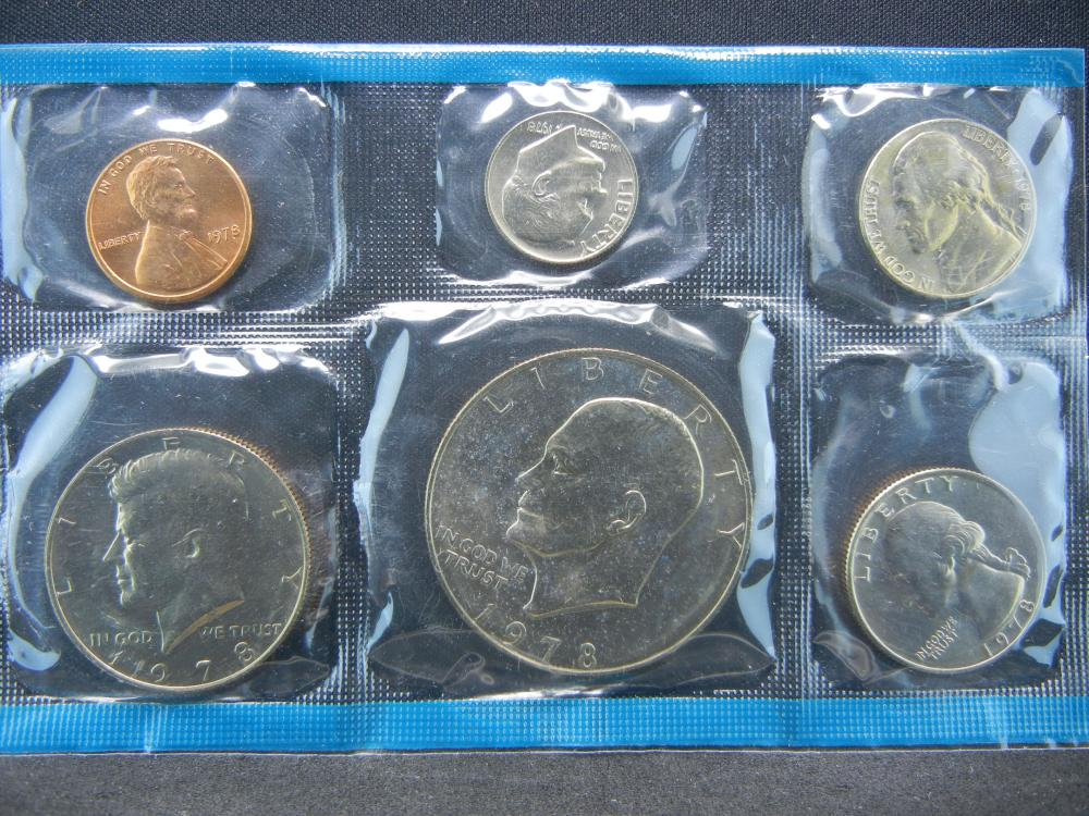1978 P & D US Mint UNC Coin Set