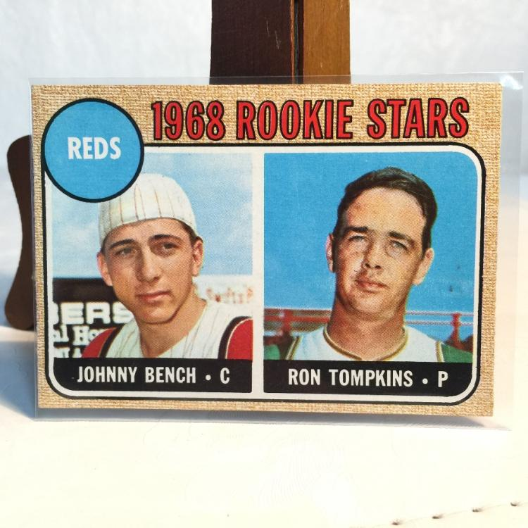 1968 Topps Johnny Bench 247 Rookie Card