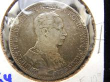 1914 Prussian coin silver dollar sized coin