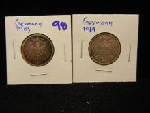 1903 silver German mark and 1914