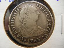 Mexican 1783 2 Reales silver coin Mexico City mint