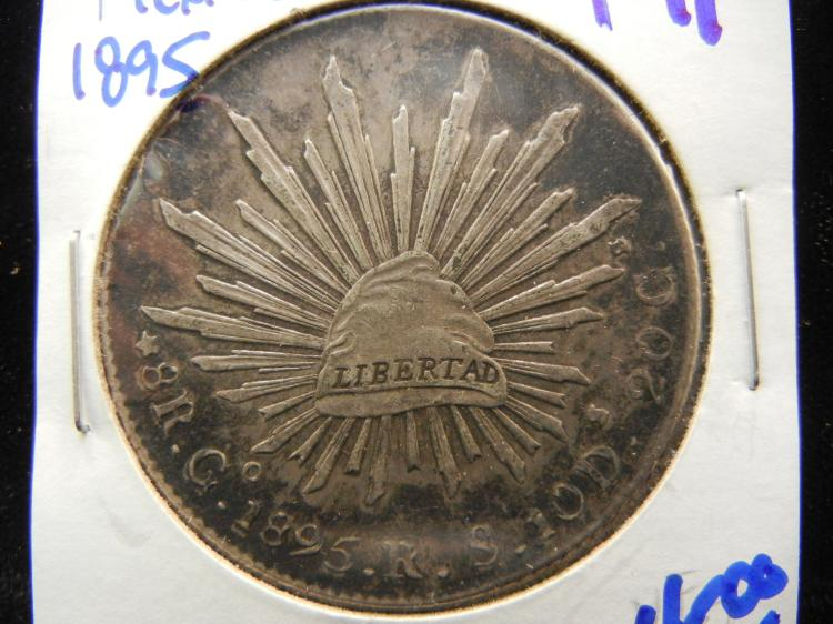 Lot 191 1895 Mexican 8 Reales Silver Coin