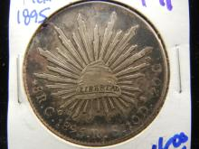 1895 Mexican 8 reales silver coin
