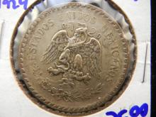 1924 Mexican one peso coin