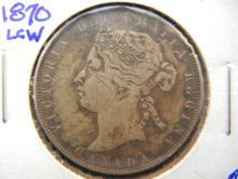 1870 Canadian half dollar