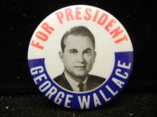 George Wallace for president political pinback