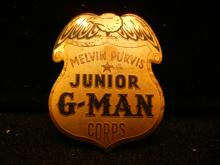 Melvin Purvis junior Gman tinnie