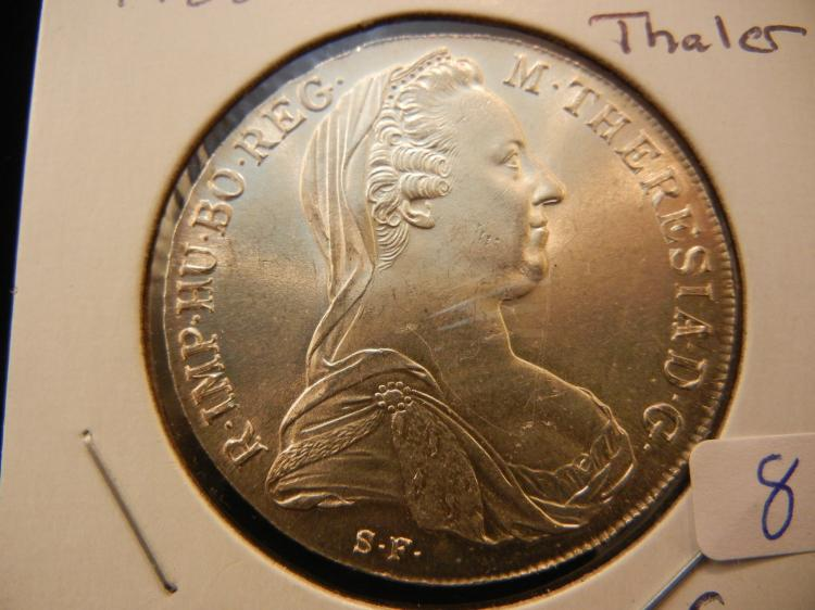 1780 Maria Theresa Thaler.  GEM BU.  Big silver coin.