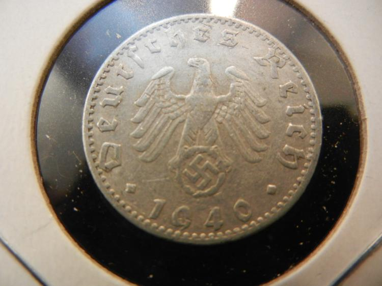 1940-A Germany 50 Pfennig.  Extremely Fine.  Berlin Mint.
