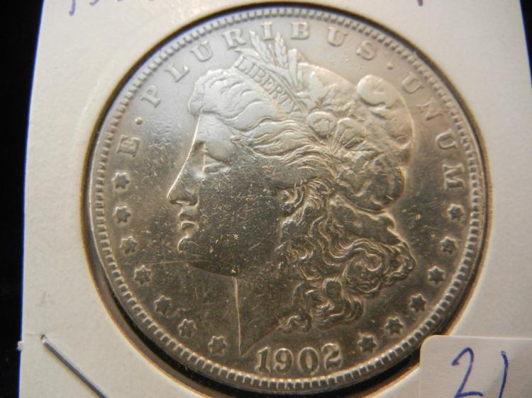 1902 Morgan Dollar.  Better date.  Very Fine.