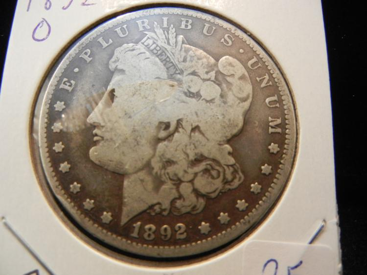 1892-O Morgan Dollar. Better date.