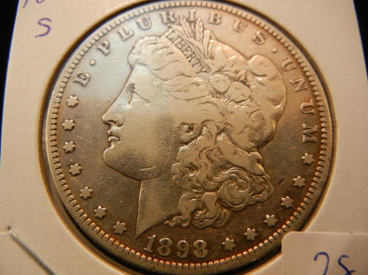1898-S Morgan Dollar. Fine to Very Fine. Much better date.