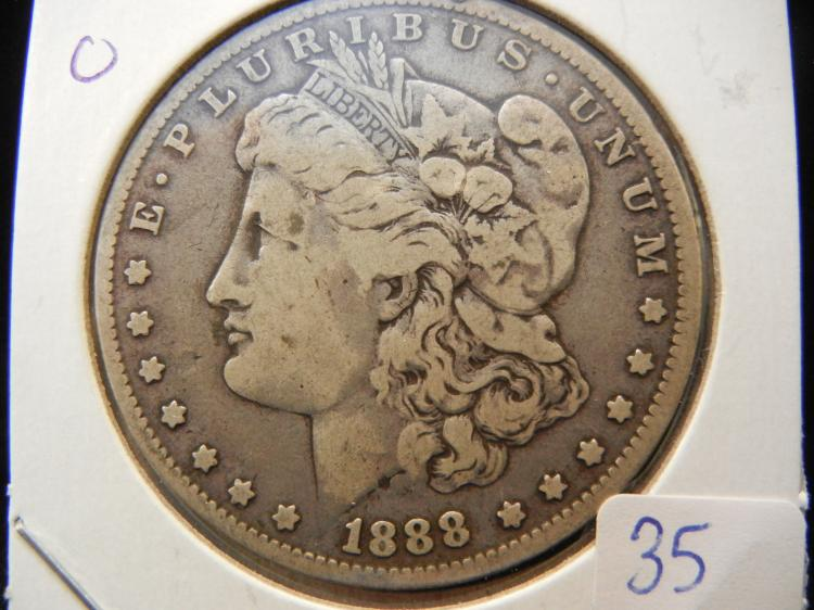 1888-O Morgan Dollar.  Original.