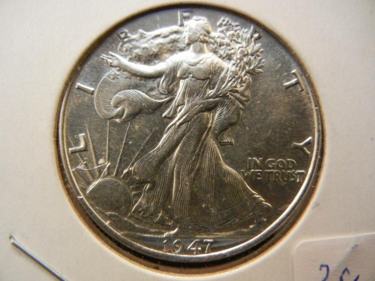 1947 Walking Liberty Half Dollar.  Nice Brilliant Uncirculated.