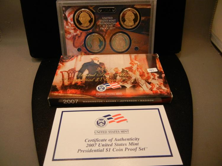 2007-S Presidential Dollar Proof Set.  In government case.