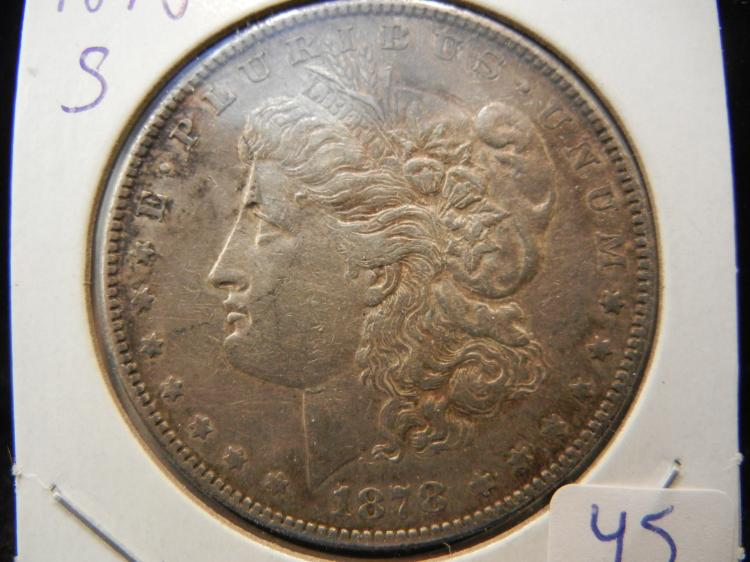 1878-S Morgan Dollar. Extremely Fine. Original.