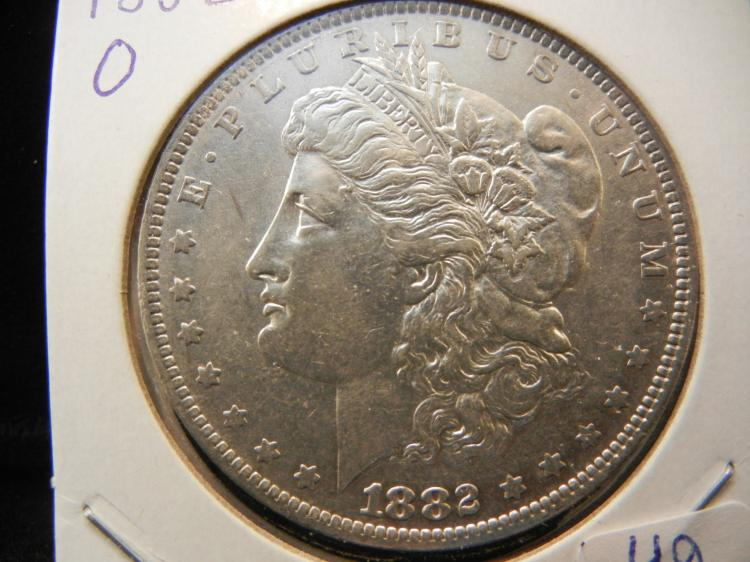 1882-O Morgan Dollar. Luster.