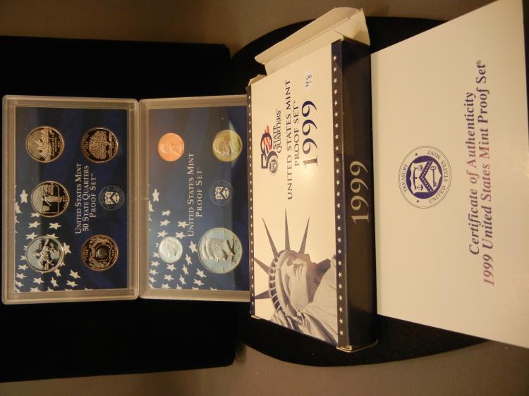 1999-S US Proof Set. In government package.