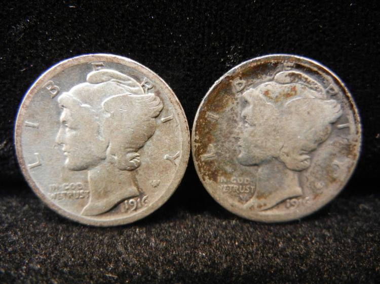 1916 P & S Mercury Dimes