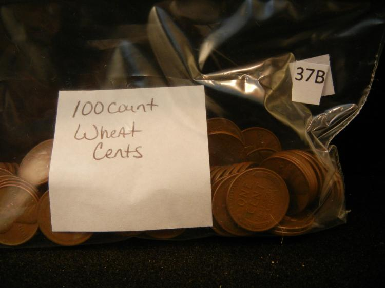 100 Lincoln Wheat Cents Mixed Dates