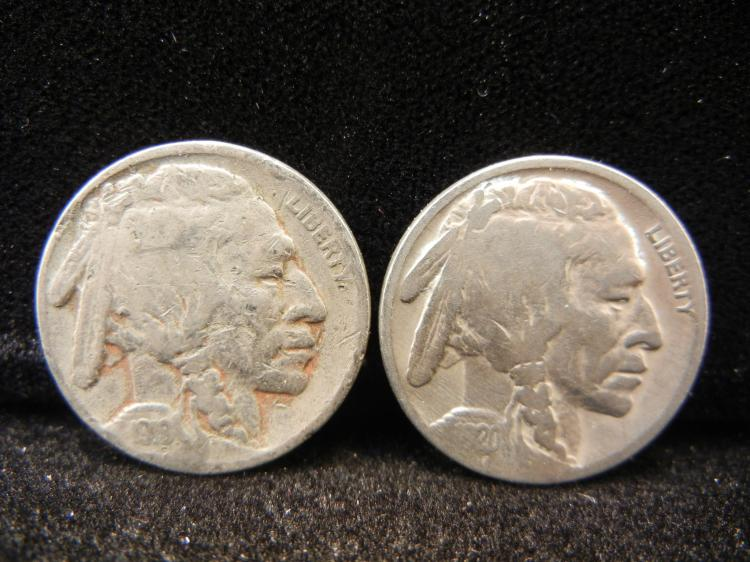 1919 & 1920 Buffalo Nickels