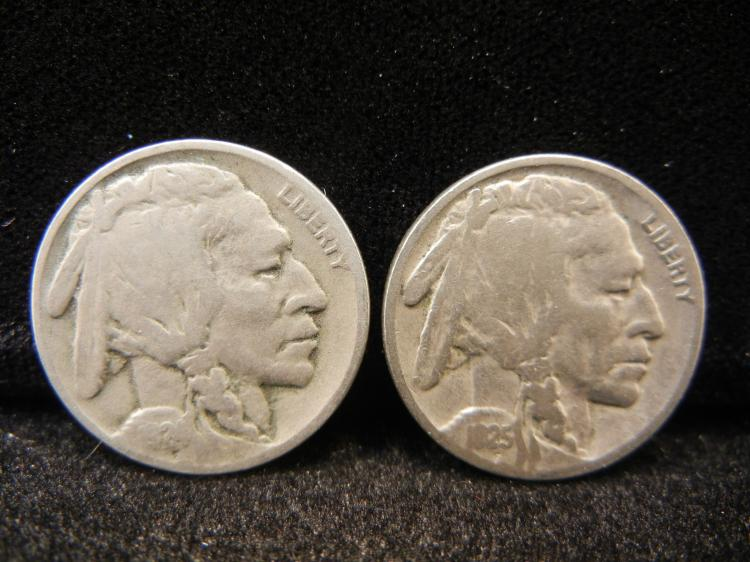 1924 & 1925 Buffalo Nickels