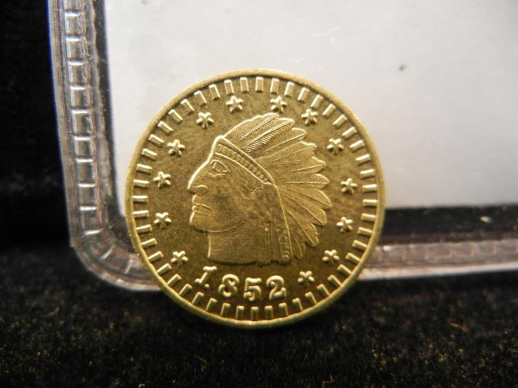 1852 California Token One Dollar Round