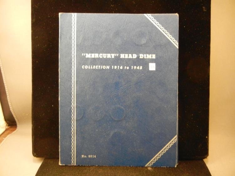 Whitman Collector Folder of 61 Mercury Dimes 1916 to 1945-D Not a  complete book