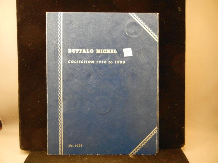 Whitman Collector Folder of 25 Buffalo Nickels  1913 to 1938-D - Not a  complete book
