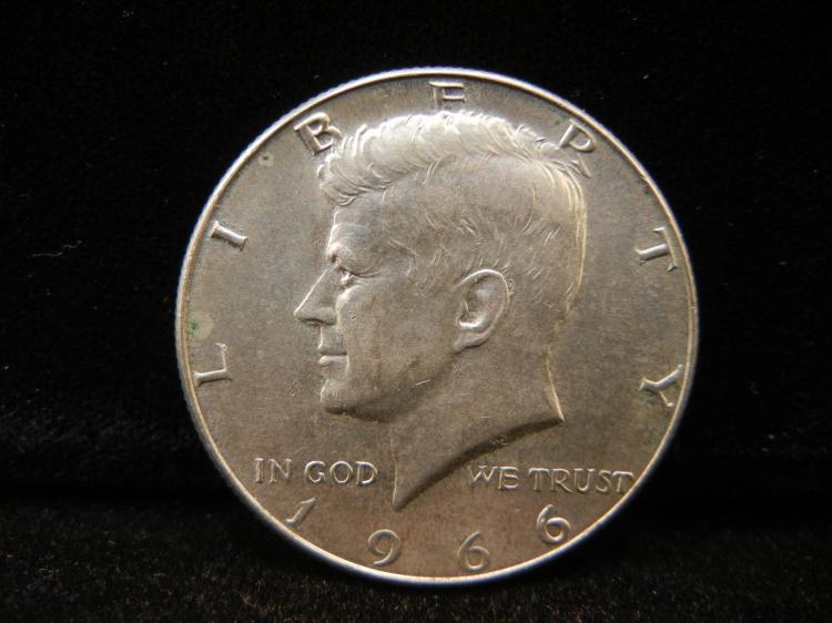 1966 Kennedy Half Dollar 40% Silver