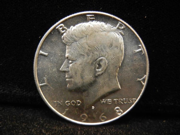 1968-D Kennedy Half Dollar 40% Silver