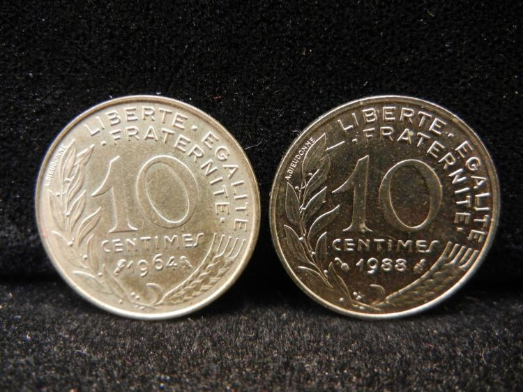 1964 & 1988 - 10 Centimes
