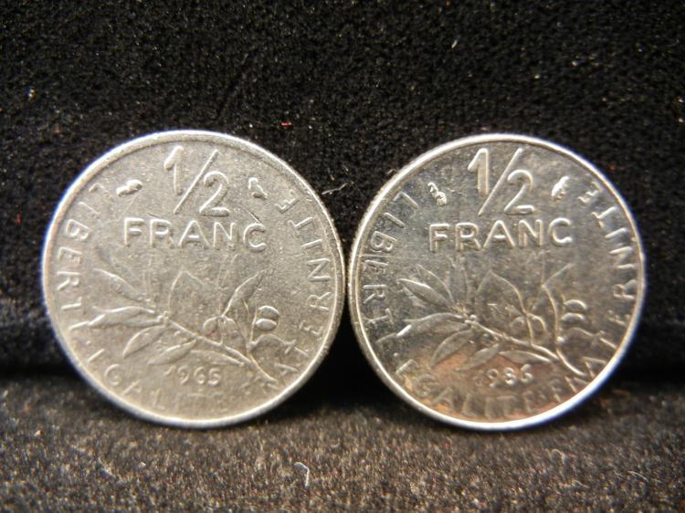 1965 & 1986 - 1/2 Franc