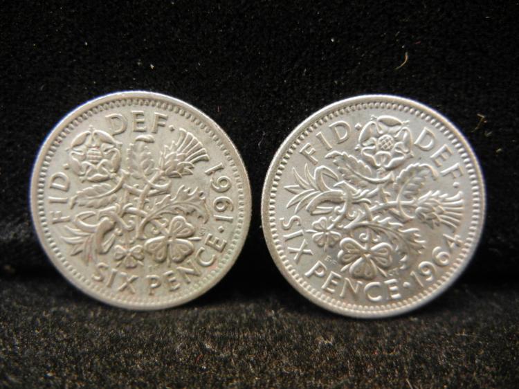 1961 & 1964 Six Pence