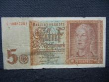 1942 Nazi Germany 5 Reichsmark Note. Tough to find in this condition.