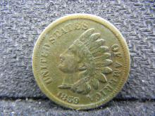 1859 Indian Head cent. Fine.