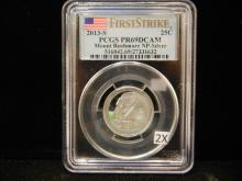 2013 Silver Mt Rushmore National Park State Quarter First Strike PCGS PR69 DCAM
