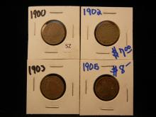 1900, 1902, 1903, 1905 Liberty Head V Nickels