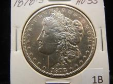 1878 -S Morgan Dollar AU