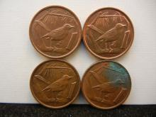 (4) Cayman Islands Pennies