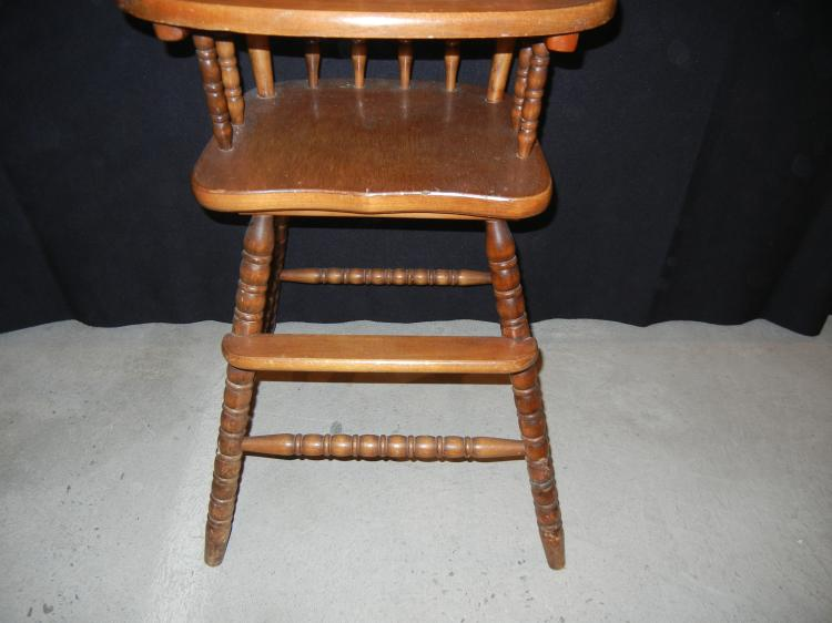 Lot 9: Jenny Lind Childs High Chair- Sipping NOT available for this ...